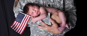 newborn and soldier